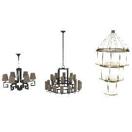 吊灯组模型
