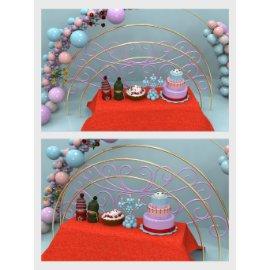 蛋糕生日美陈堆头设计