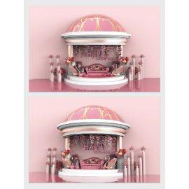 粉色商场美陈设计