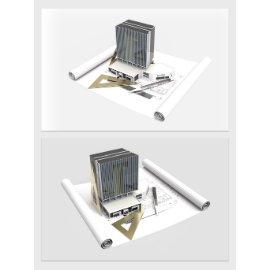 写字楼模型设计