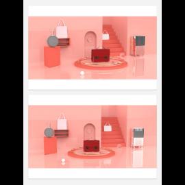 红色淘宝电商美陈设计