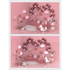 粉色浪漫美陈设计