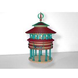 中国风门楼模型设计