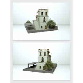 欧式公寓楼模型设计