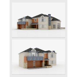 现代公寓别墅模型设计