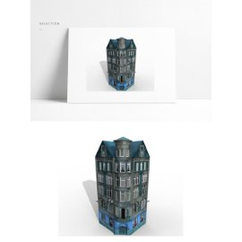 欧式公寓楼模型