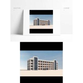 厂区写字楼模型
