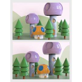 卡通蘑菇小房子美陈设计