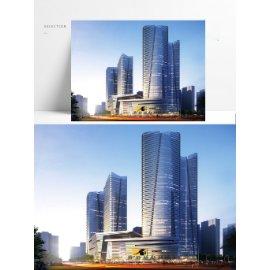 城市商务大楼模型设计