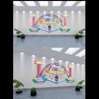 读书之乐校园文化墙
