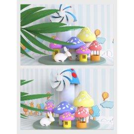 卡通蘑菇房子美陈设计