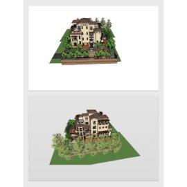 山野别墅公寓模型