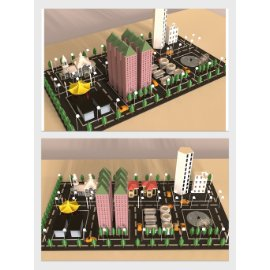 城市小镇模型设计