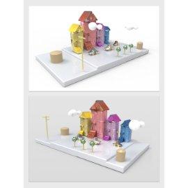 卡通房子模型设计