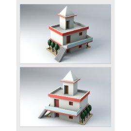 卡通公寓模型设计