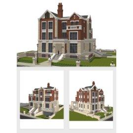 英式别墅模型