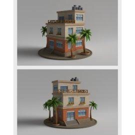 卡通房子模型