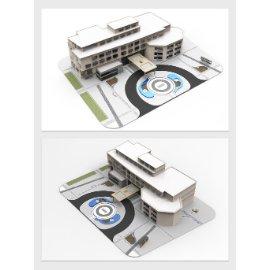 酒店酒楼模型设计