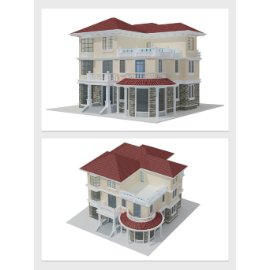 欧式别墅模型设计