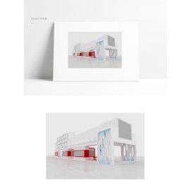 科技展馆建筑模型