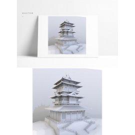 中国风塔楼模型设计