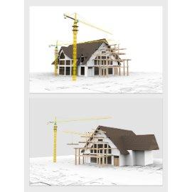 欧式小房子模型设计