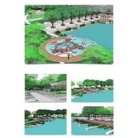 公园风景区模型