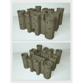 欧式城堡模型设计
