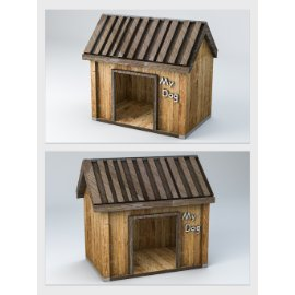 木质狗屋模型设计