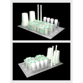 工业工厂模型设计