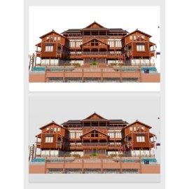中国风古建筑模型设计