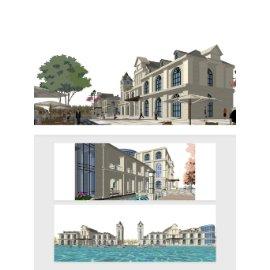 欧式建筑模型设计