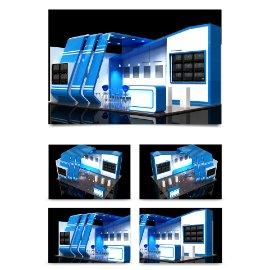 蓝色科技展厅展会模型