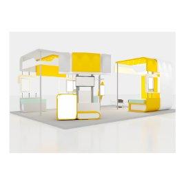 黄色科技展厅展会模型