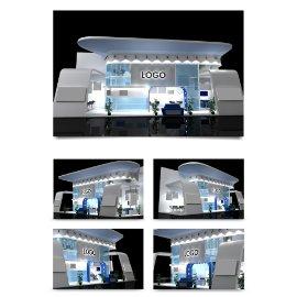 白色展厅展会模型