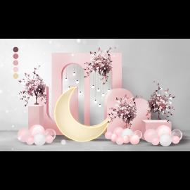 粉色婚礼舞台效果图