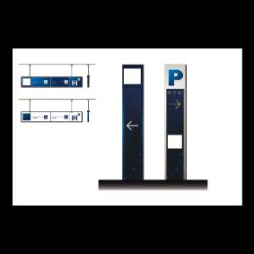 蓝色科技导视设计