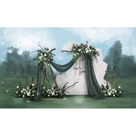 田园婚礼效果图