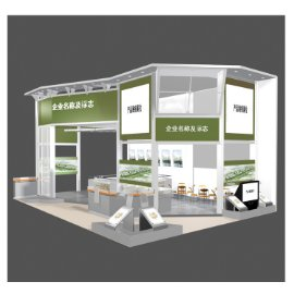 绿色展会展厅模型