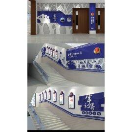 警局警队展厅展馆文化墙