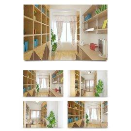 中式书房室内装修设计