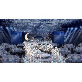 星空月亮婚礼舞台效果图