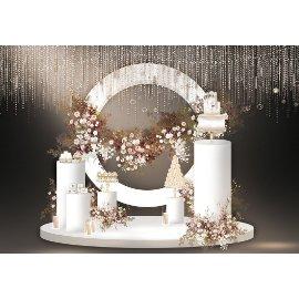 白色浪漫婚礼婚庆堆头