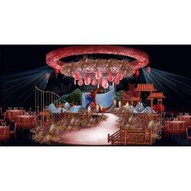 中式中国风婚礼舞台效果图