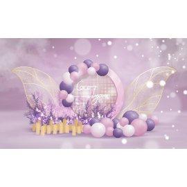 紫色浪漫唯美气球堆头