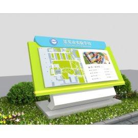 某学校绿色导视设计