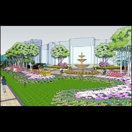 小区公园绿化