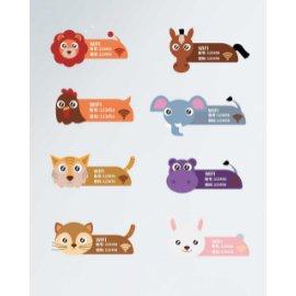 卡通动物温馨提示门牌