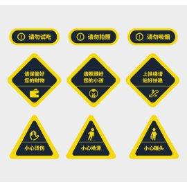 黄色警示门牌导视