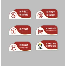 红色安全导视门牌